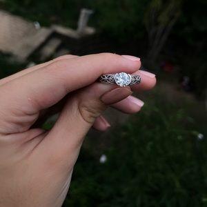 Moissanite Sterling Silver Ring